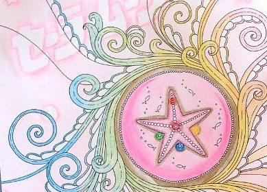 水彩色鉛筆でグラデーションに☆『海の楽園』はキラキラがいっぱい